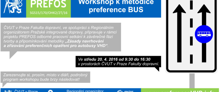 PREFOS a ROPID uspořádají workshop k preferenci BUS