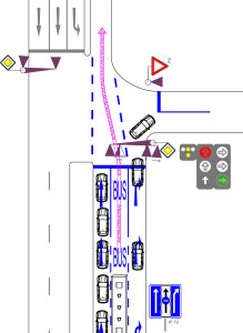 obr13-vyhrazeny-radici-pruh-a-prujezd-bus-na-specialni-fazi
